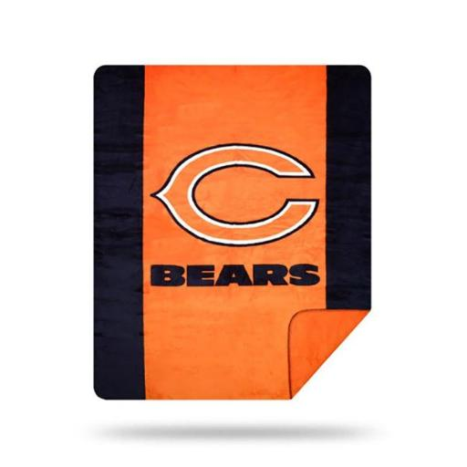The North West 1NFL361000013RET Bears NFL Sliver Knit Throw