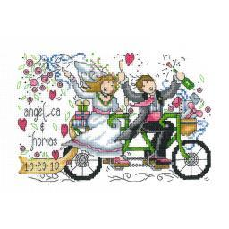 """Wedding Ride Wedding Record Counted Cross Stitch Kit-8.75""""X5.75"""" 14 Count I2679"""