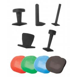 Fabrication Enterprises 10-2836 Puttycise Theraputty set- hard- 5 tools- Four 1 lb Theraputty- Red- Green- Blue- Black
