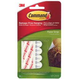 3m company 3m command poster strips 12 strips 17024