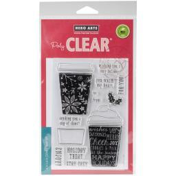 """Hero Arts Clear Stamps 4""""X6""""-Coffee Cup Tags HA-CL986"""