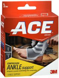 Ace Knitted Ankle Support Large, Mild Support - Each, Pack Of 4