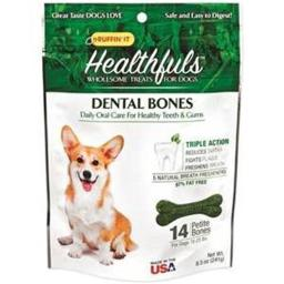 Ruffin It 08406 Petite Chicken Flavor Healthful Dental Bones 14 Count, Pack of 3