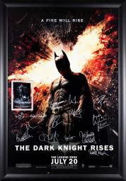 Batman The Dark Knight Rises- Signed by Cast Movie Poster in Wood Frame