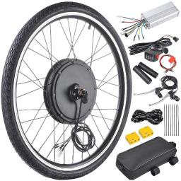 """26""""x1.75"""" Front Wheel Electric Bicycle Motor Kit 48V 1000W Bicycle Cycling Engine w/ Dual Mode Controller"""