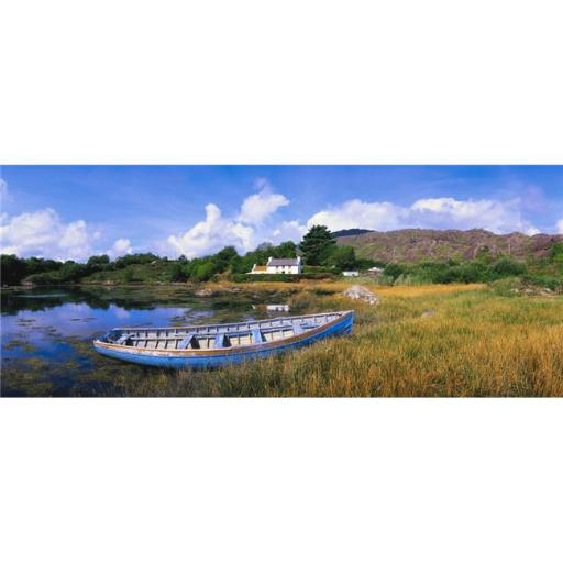 Posterazzi DPI1803477LARGE Ellens Rock Glengarriff Co Cork Ireland - Rowboat On The Shore Poster Print by The Irish Image Collection, 44 x 18 - Large