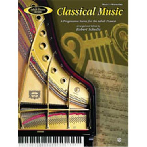 Alfred 00-AFM01023 Adult Piano Series- Classical Music- Book 1 - Music Book