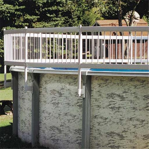 Gli Pool Products 30-BKIT-WHT Protech-A-Pool Above Ground Fence 3 Section Base Kit