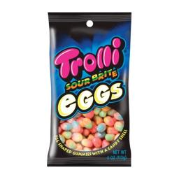 Trolli 12088 Sour Brite Crawler Eggs Gummi Candy - pack of 12