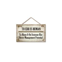 Highland woodcrafters  llc 4100148 9 5x5 5 management potential wood sign