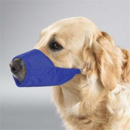 Pet Pals TP614 18 19 GG Lined Fashion Muzzle 10.5 In Snout Sz 3XL Blue
