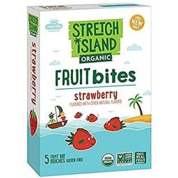 Stretch Island 2127884 0.7 oz Blueberry Organic Fruit Bites, Pack of 5 - Case of 9