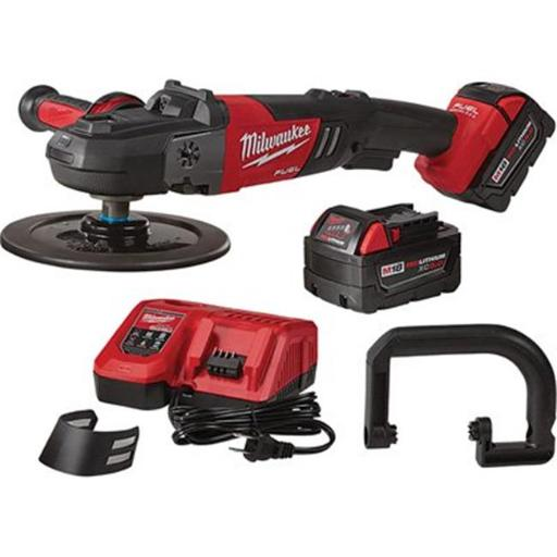 Milwaukee 2738-22 M18 Fuel Cordless 7 in. Variable Speed Polisher Kit with 2 Batteries, Charger ESWEFIFURIGGFZDR