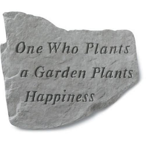 Kay Berry- Inc. 62320 One Who Plants A Garden Plants Happiness - Garden Accent - 11 Inches x 10 Inches