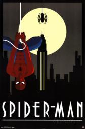 Spiderman Art Deco Poster Poster Print SCO13232