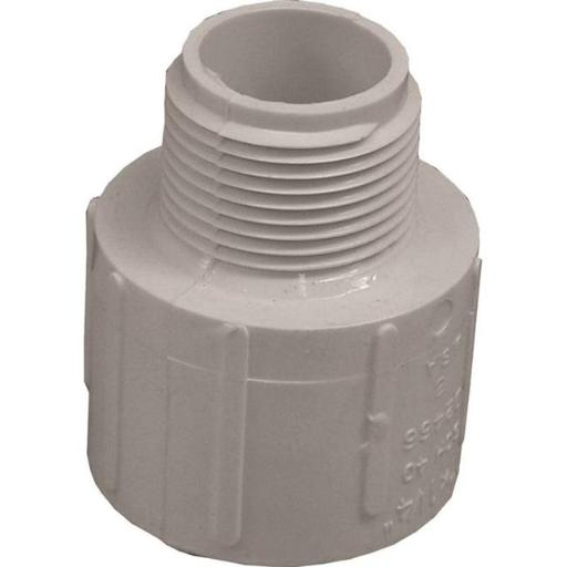 Genova Products 1106533 Solvent Weld Pipe Reducing Adapter, 1.25 x 1 in. - Slip x MIP, SCH 40, PVC