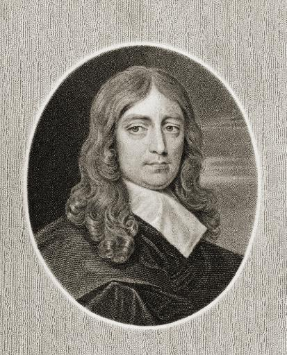 John Milton 1608-1674. English Poet. From The Book Gallery Of Portraits? Published London 1833. PosterPrint