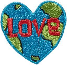 Iron-on Appliques-love Earth
