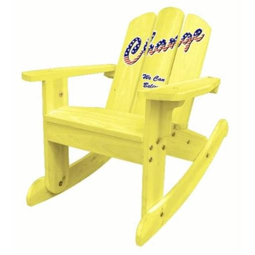 ODM Products Ltd. MM20622 Lohasrus Kids Rocking Chair in Yellow- MM20622