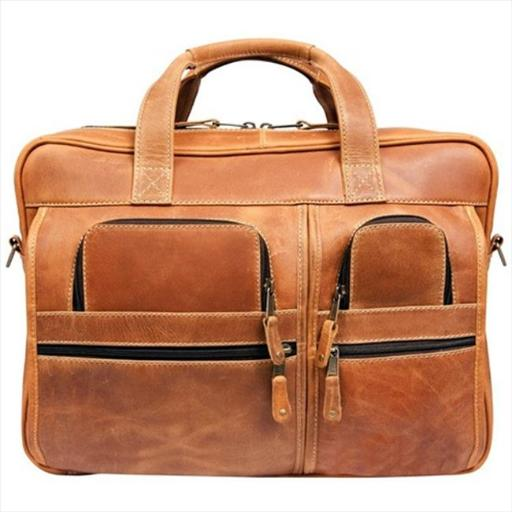 Canyon Outback Leather CS229-26 16 in. Casa Grande Canyon Leather Computer Bag, Distressed Tan 9CA44B8450CE32DC
