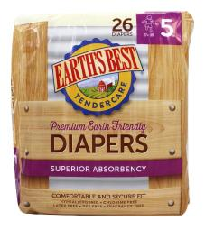 Earth's Best - Premium Earth Friendly Superior Absorbency Diapers 27 +  Lbs. - 26 Diaper(s)