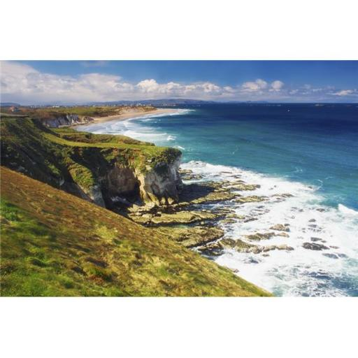 Posterazzi DPI1807333LARGE White Rocks Portrush Co Antrim Ireland - Limestone Cliffs & The Atlantic Poster Print by The Irish Image Collection, 36 x 2