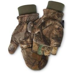 Scentlok 83314 Mens Fleece Pop Top Glove, Realtree Edge – Extra Large