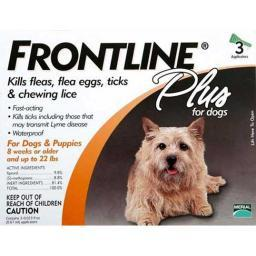 Frontline 11-22-3Pk-Ps Frontline Flea Control Plus For Dogs And Puppies 11-22 Lbs 3 Pack