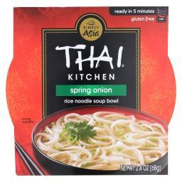 Thai Kitchen Rice Noodle Soup Bowl - Spring Onion - Case of 6 - 2.4 oz.