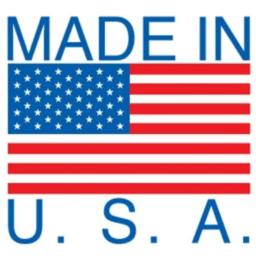 Ace Label 11001FPreprinted Made in USA Label with American Flag  Permanent Adhesive