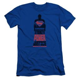 Batman Vs Superman Super Justice Mens Slim Fit Shirt Royal Blue Lg