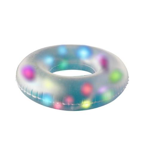 Pool Central 32557572 32 in. LED Lighted Inflatable Swimming Pool Swim Ring Inner Tube