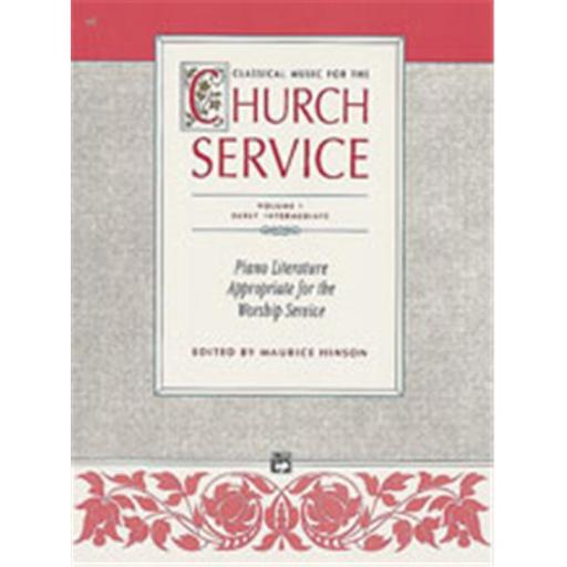 Alfred 00-452 Classical Music for the Church Service- Volume 1 - Music Book
