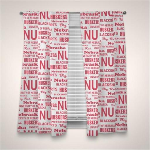 Northwest 1COL-89101-0006-WMT NCAA Nebraska Anthem Window Panels, 63 x 82 in.