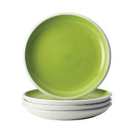 Rachael Ray Rise Dinnerware 4-Piece Salad Plate Set Green 58732