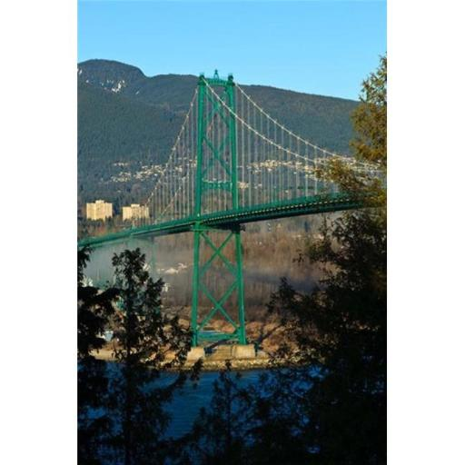 Posterazzi PDDCN02RBR0021 British Columbia Vancouver Lions Gate Bridge Poster Print by Rick a Brown - 19 x 29 in.