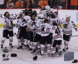 The Chicago Blackhawks Celebrate winning Game 6 of the 2010 Stanley Cup Finals PFSAAML12901