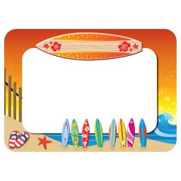 Teacher created resources surfs up name tags labels 5361