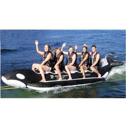 Aqua Sports Pvc-5-wr 5 Passenger 17 In-line Seats Whale Ride Banana Style Water Sled