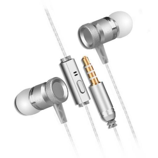 In-Ear Earphones Headphones Metal Mic HEAVY BASS, HD Sound for iPhone iPod iPad