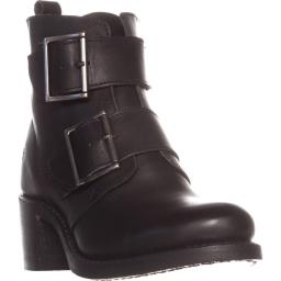 FRYE Sabrina Double Buckle Ankle Boots, Black Sabrina Double Buckle