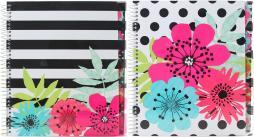 """Studio C 5-subject Notebook 11""""x8.5"""" 150 Sheets-sugarland, College Rule, Assorted Colors"""