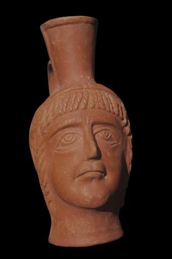 Anthropomorphic Drinking Cup Earthenware - Tunisa Tunisi The National Bardo Museum. Pottery Vase Used For Drinks Depicting A Man'S Face. XUTBGAKMZ8WW0PUB