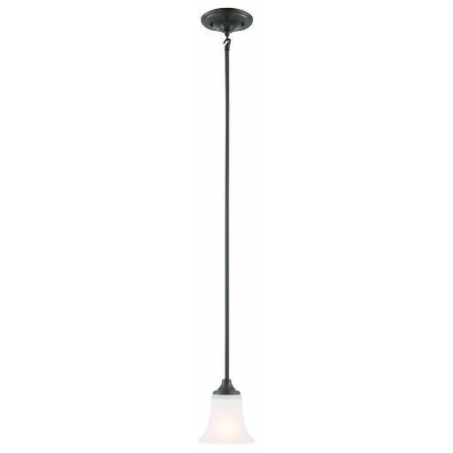 Design House 515833 Juneau 1-Light Mini Pendant Light Oil Rubbed Bronze