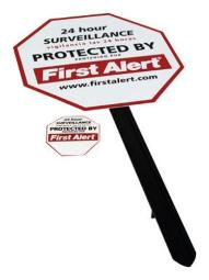 First Alert YS-1 Surveillance Window Stickers Security Yard Sign
