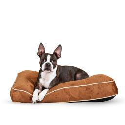 K&H Pet Products 7401 Chocolate K&H Pet Products Tufted Pillow Top Pet Bed Small Chocolate 20 X 30 X 7.5