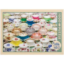 "Jigsaw Puzzle 1000 Pieces 10""X14""-Teacups OM51651"