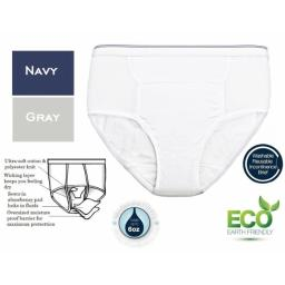 Care Apparel 6255-2X-AST 6 oz - 2XL Mens Reusable Incontinence Panty, Assorted Colors - Pack of 3