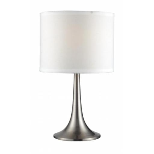 Z Lite TL1002 Portable Lamps 1 Light Table Lamp - Satin Nickel with White Shade