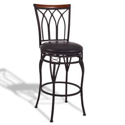 "24 28"" Height Adjustable Vintage Swivel Bar Stool"""
